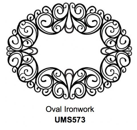 Oval Ironwork - UMS573